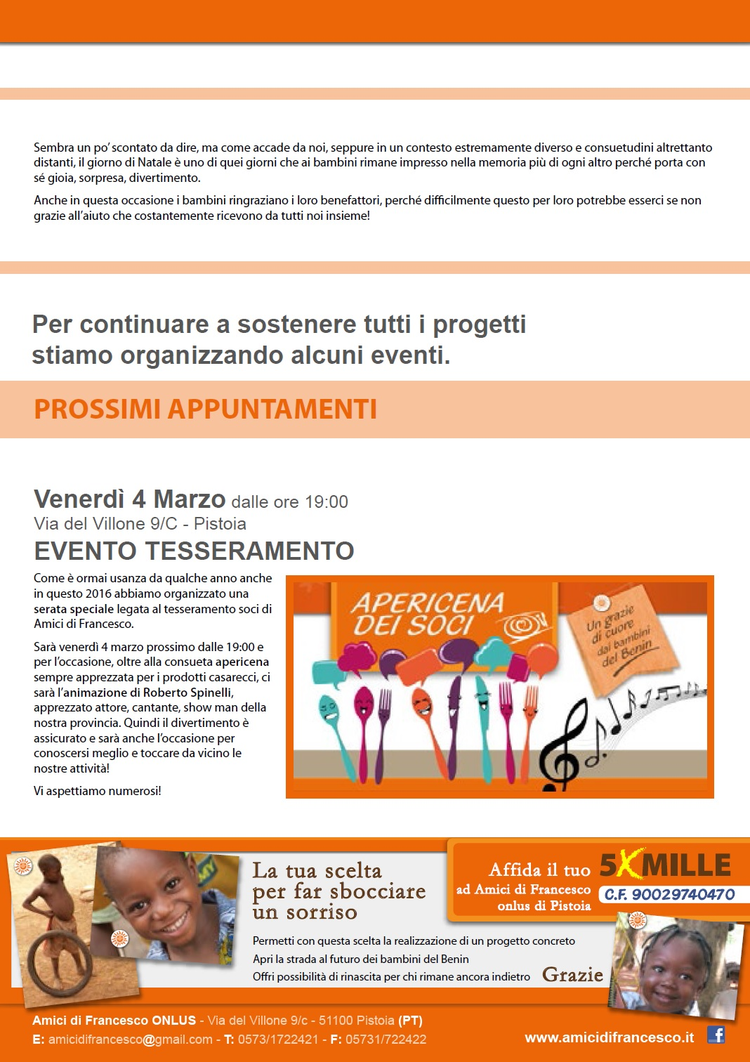 newsletter corretta